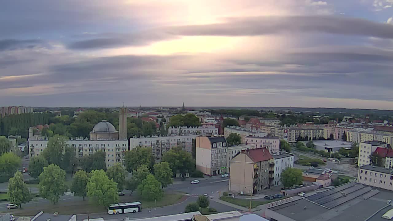 Panorama Raciborza - ul. Polna